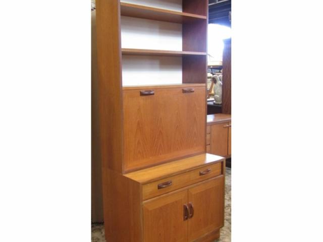 meuble bureau bibliothèque design g plan en teck année 70
