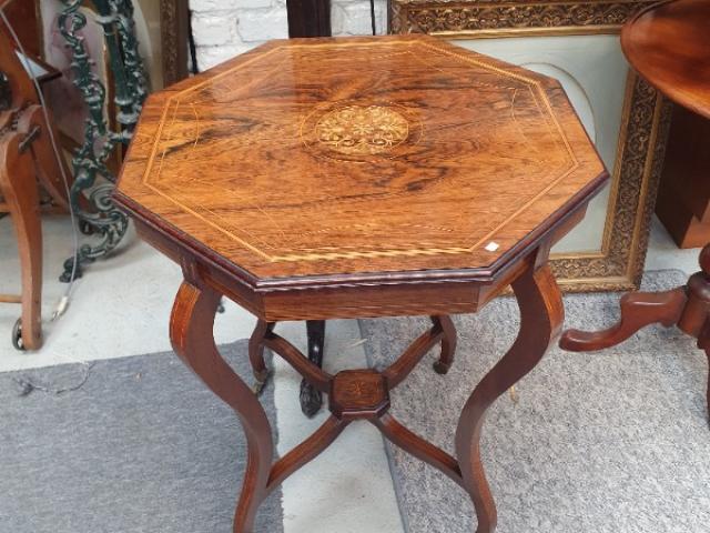 table de salon en palissandre d époque edwardienne avec marqueterie